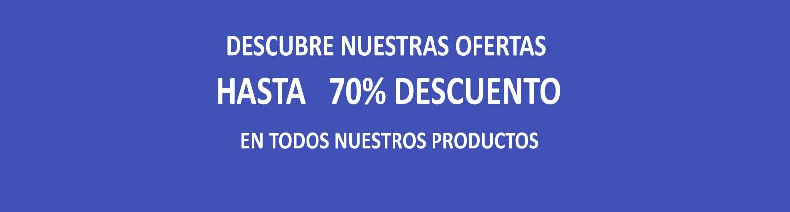 En muchos de nuestros productos, hasta 70% de descuento!!